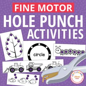 fine motor hole punch activities