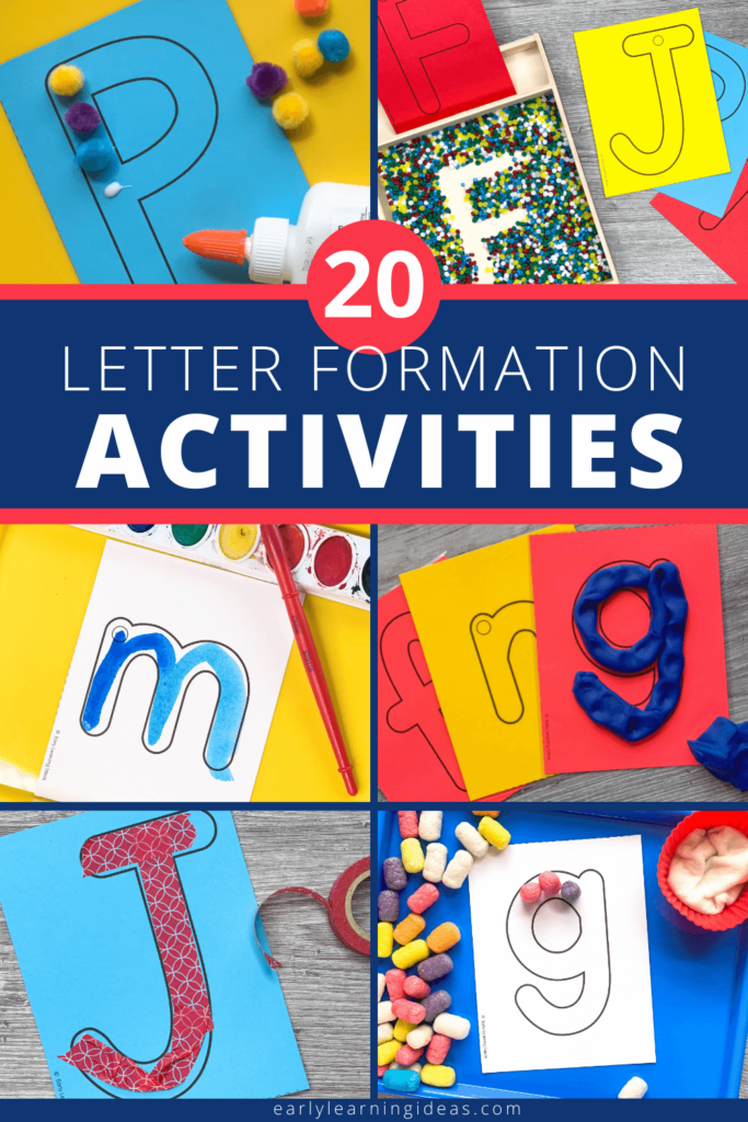 letter formation activity ideas for preschoolers