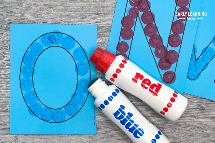 Make letters with bingo markers