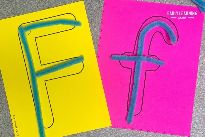 Use pipe cleaners to form letters