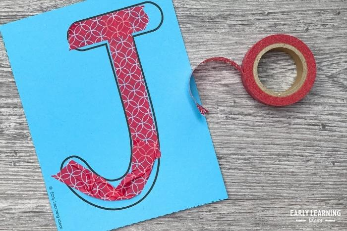 forming letters with tape