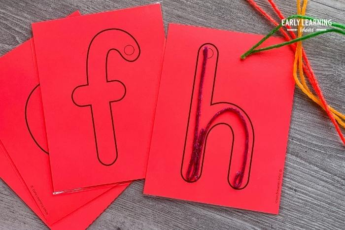 Making letters with Wikki Stix