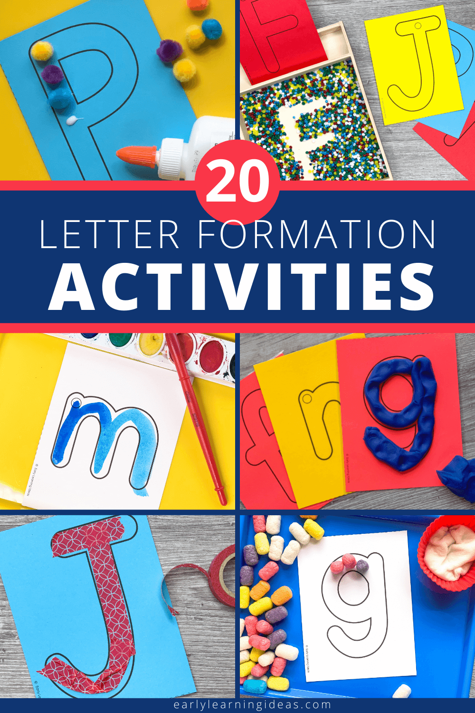 Letter Formation Activities: 20 Ways to Help Your Preschoolers
