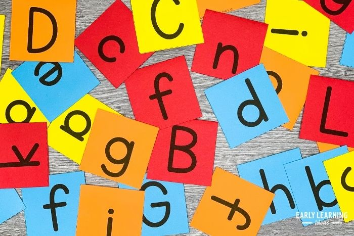 how to teach letter recognition with printable letter cards