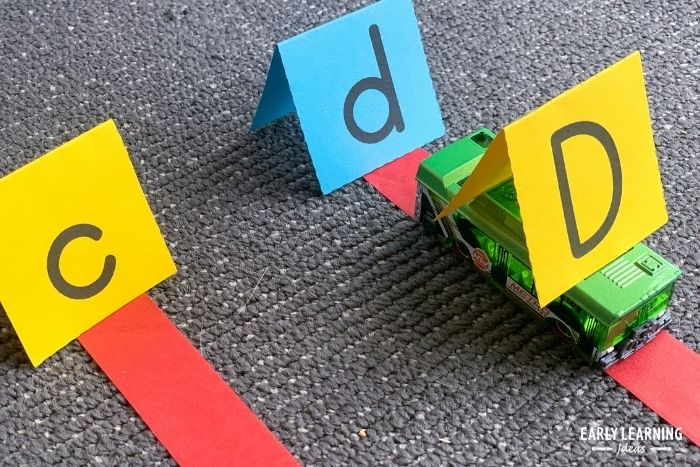using free printable letter signs for play based letter recognition activities