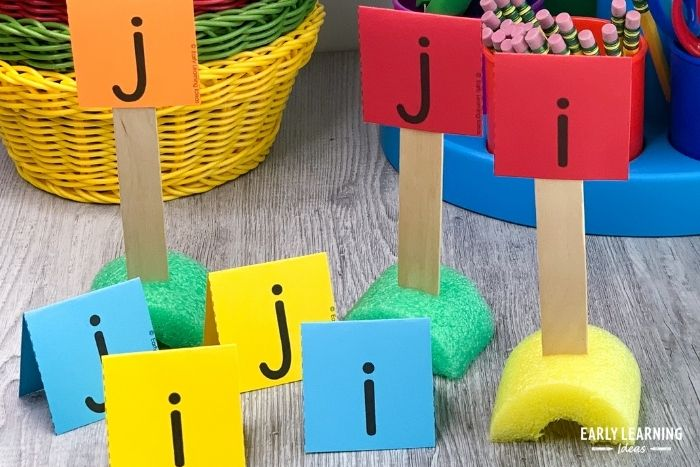 sort similar letters to help with letter recognition