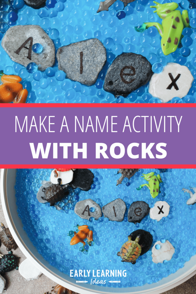 letter rocks for name activities