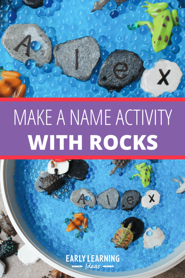 Make a Name Activity with Letter Rocks