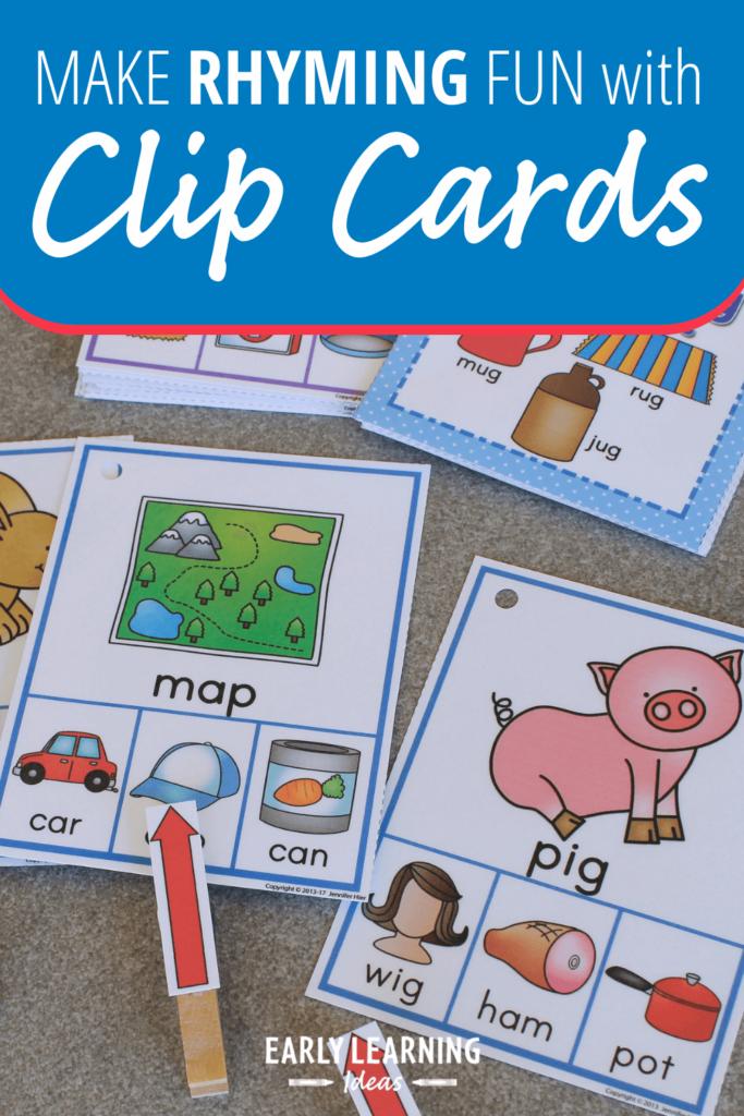 rhyming clip card activity