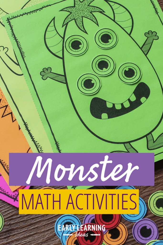 monster color and math activities for preschoolers