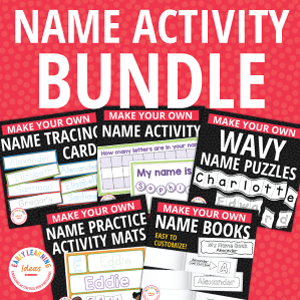 name activities for preschool pre-k and kindergarten