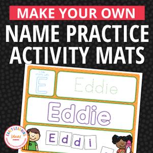name activity mats for preschool pre-k and kindergarten