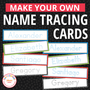 name tracing cards