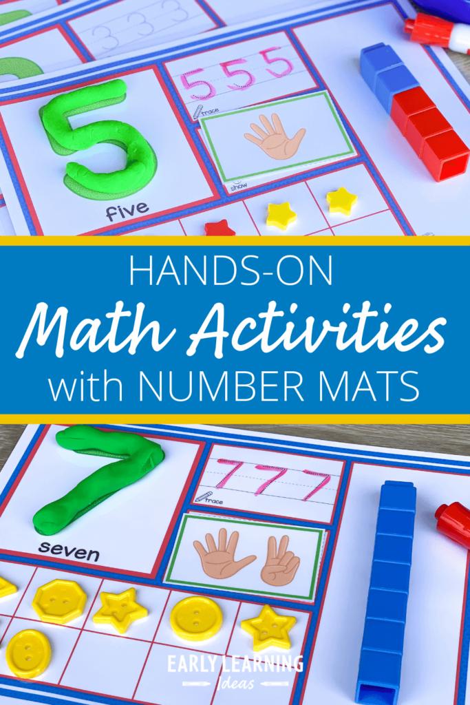 number math activity mats