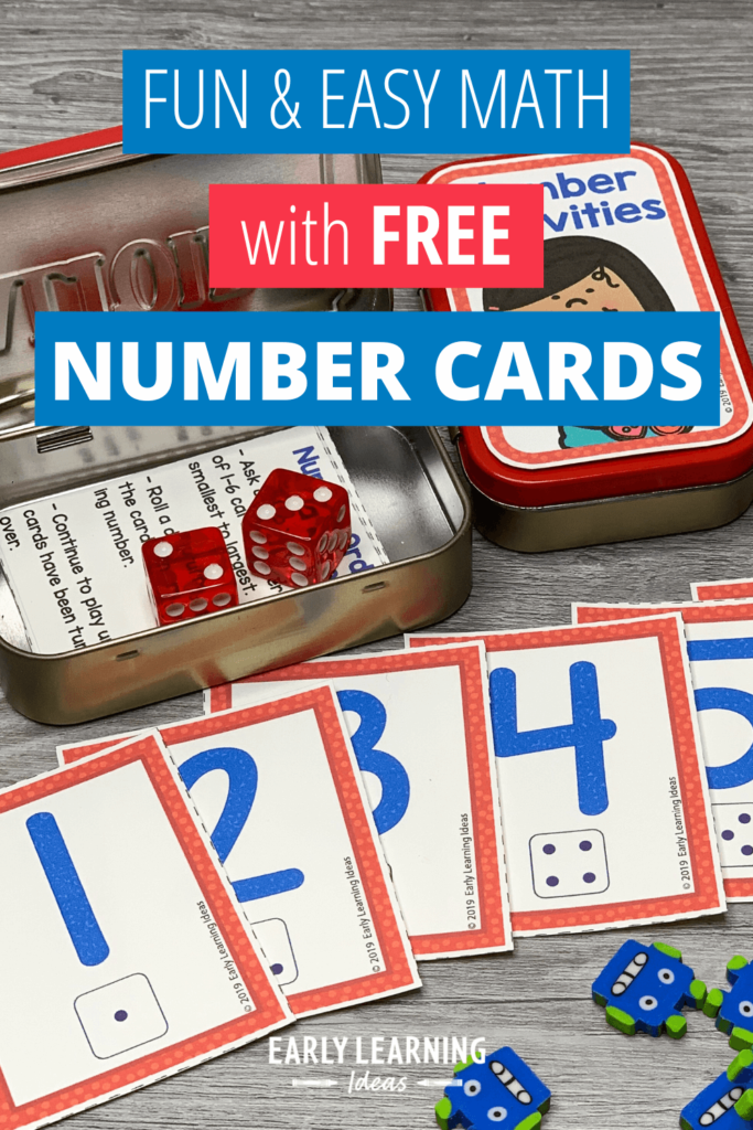 math activities with number cards