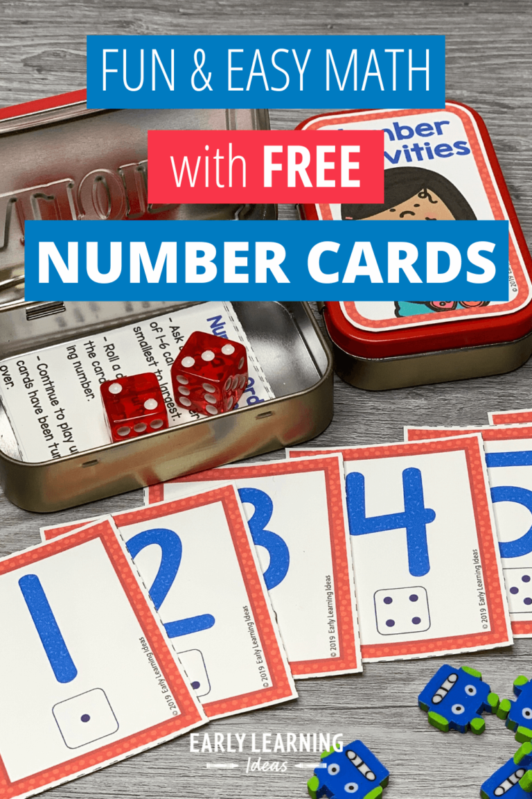 How to Use These Free Printable Number Cards