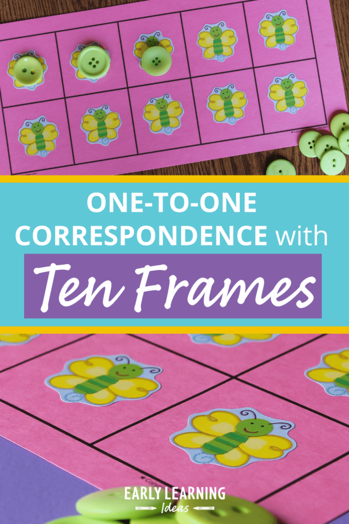one-to-one correspondence with ten frames