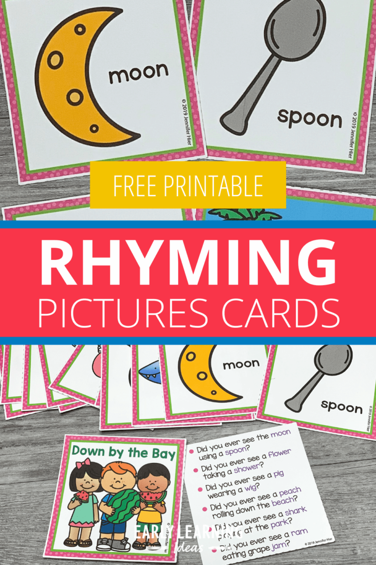 How to Use These Free Rhyming Picture Cards