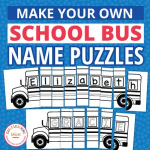 school bus name puzzle