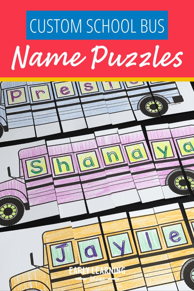 How to Make Custom School Bus Name Puzzles