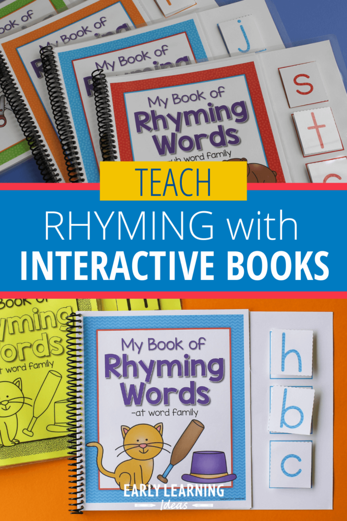 Interactive rhyming book