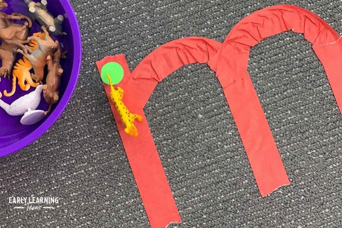 use toy animals to teach letter recognition
