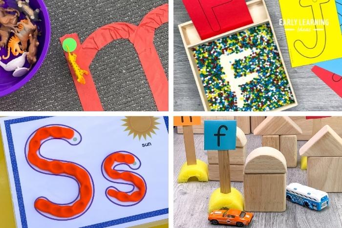 teach the alphabet with multi sensory alphabet activities