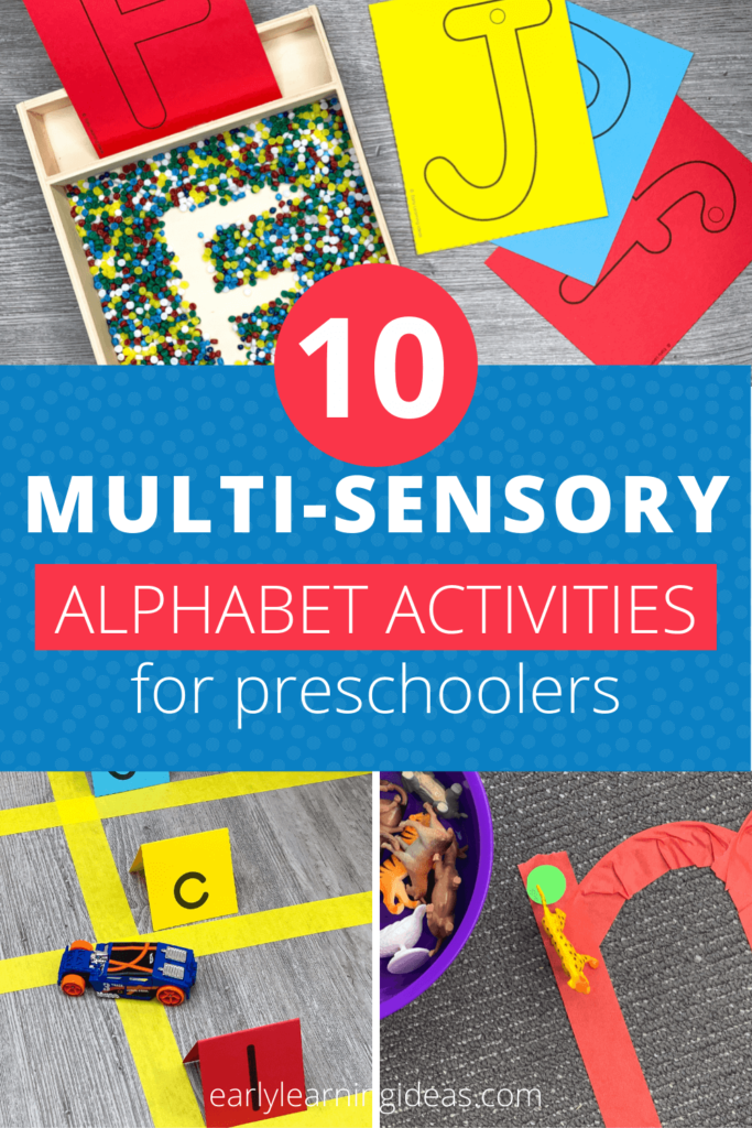 teaching the alphabet with multi-sensory activities