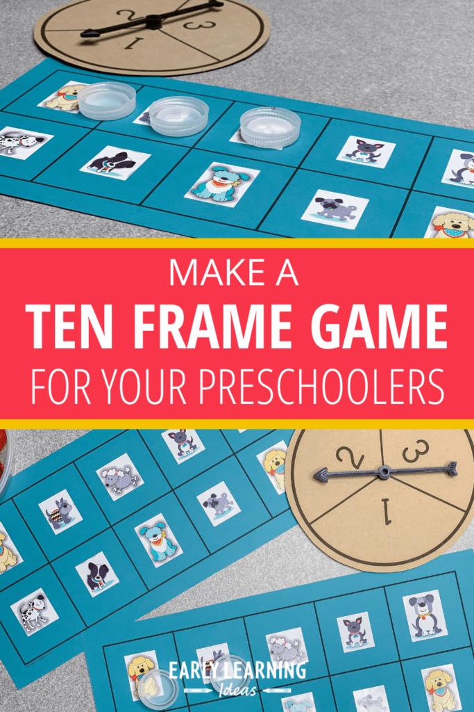 ten frame game for preschoolers