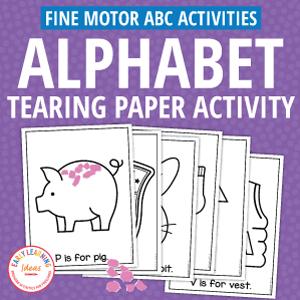 alphabet tearing paper activities