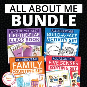 all about me activity bundle