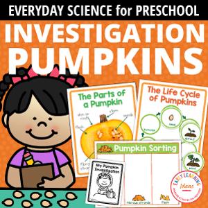Pumpkin Investigation Activities - simple science for preschool and kindergarten