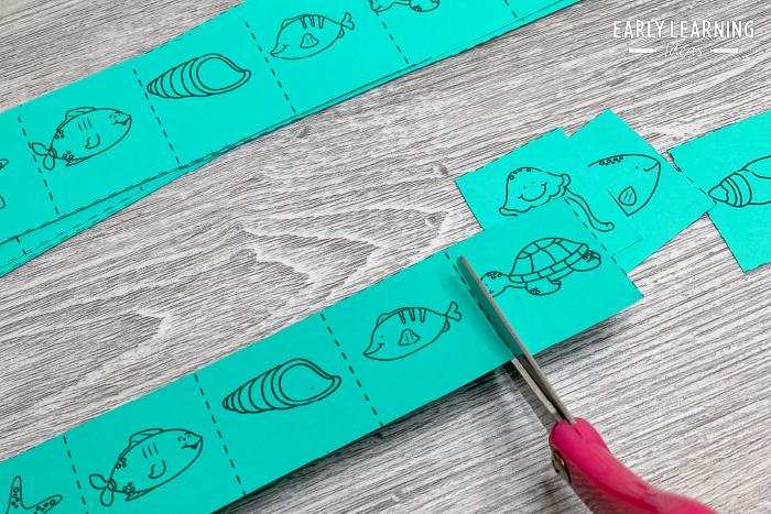 snip strips for developing scissor skills