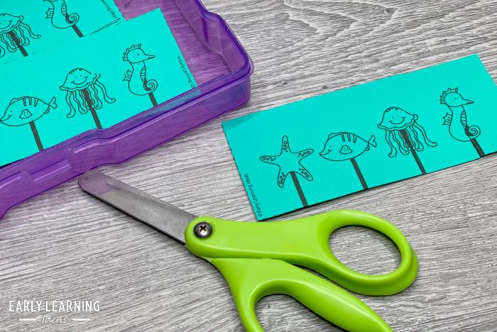 snip strips to help kids develop scissor skills