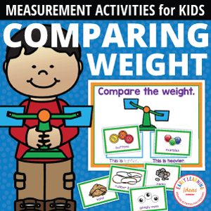 comparing weight activity for a bucket or balance scale