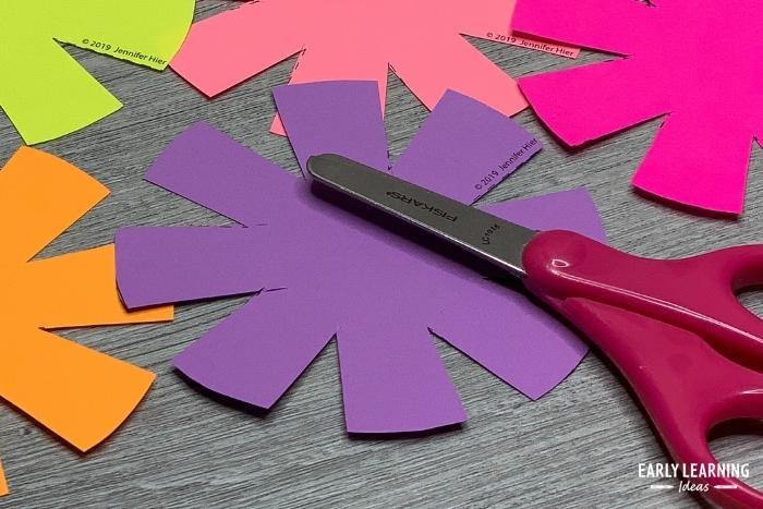 cutting practice activity - flower printable