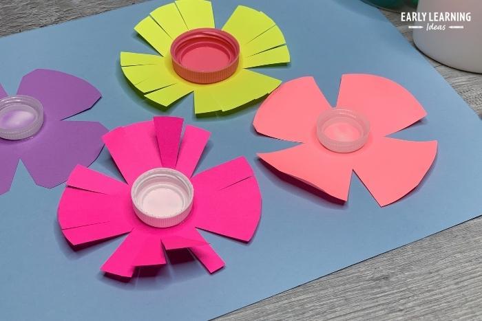 flower cutting practice craft for preschool and kindergarten