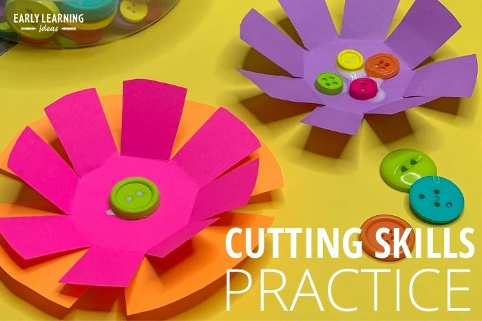 practice cutting skills with this free flower printable