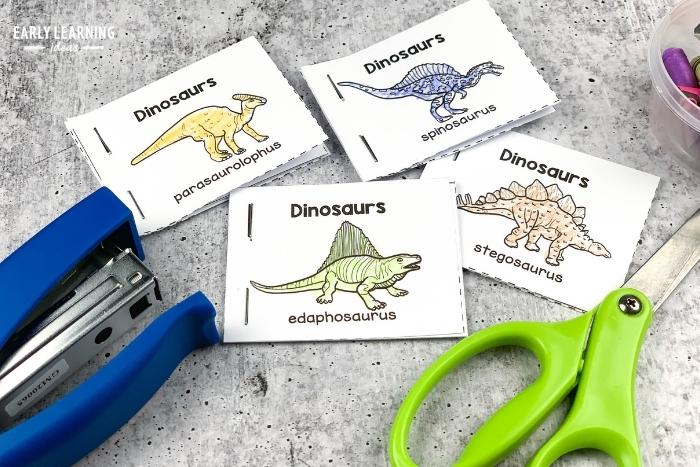 kids can cut and staple mini books to build hand strength