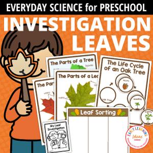 Leaf Investigation Printables for Preschool and Pre-k