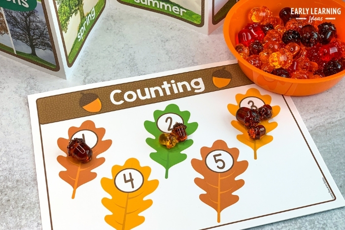 leaf counting activity for preschoolers