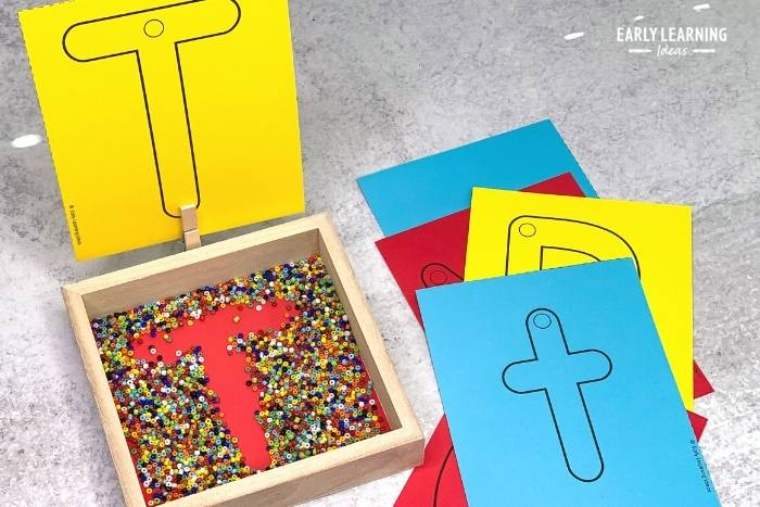 use a small shadow box to make an inexpensive salt tray for your kids.